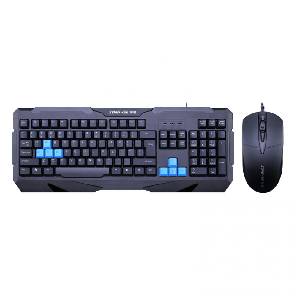ZornWee Resident Evil Gaming combo mouse and keyboard, Black - 6076
