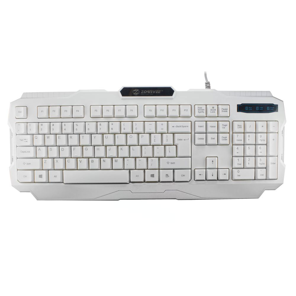 ZornWee, V01 Gaming keyboard, White - 6051