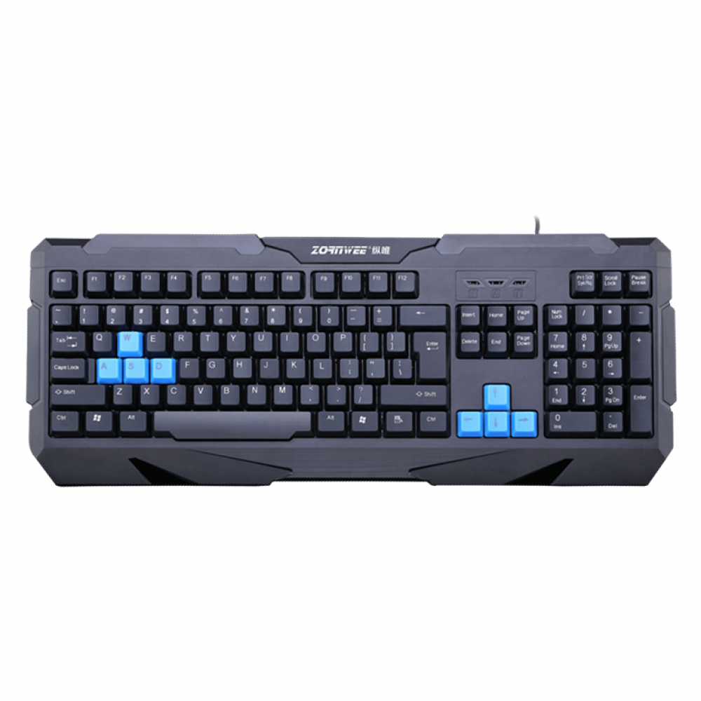 ZornWee Resident Evil Gaming keyboard, USB, Black - 6072