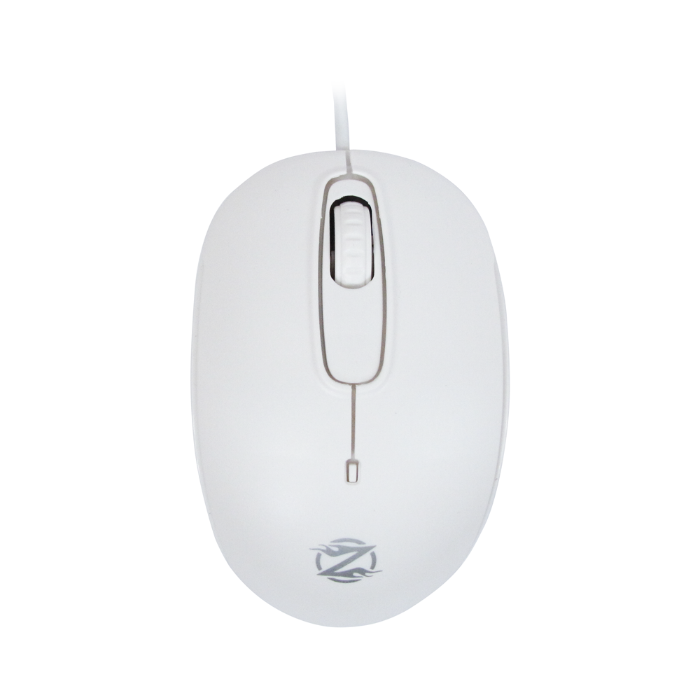 ZornWee S122, Mouse, Optical, White - 995