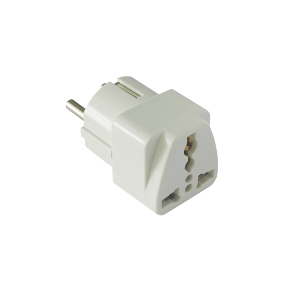 OEM Adapter UK - US to EU Schuko DT 220V, Universal, White - 17108