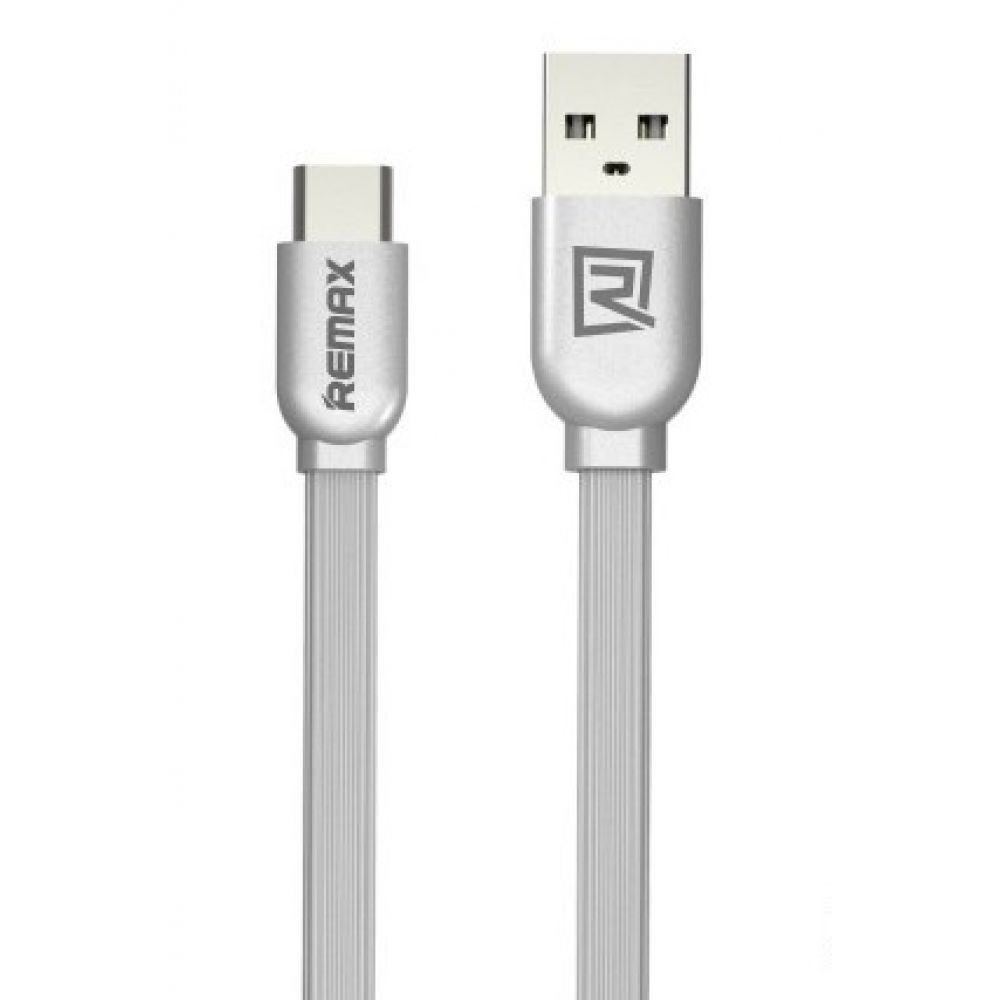 Remax RC-047a, Data cable USB 2.0 to USB 3.1 Type-C 1м, Silver - 14337