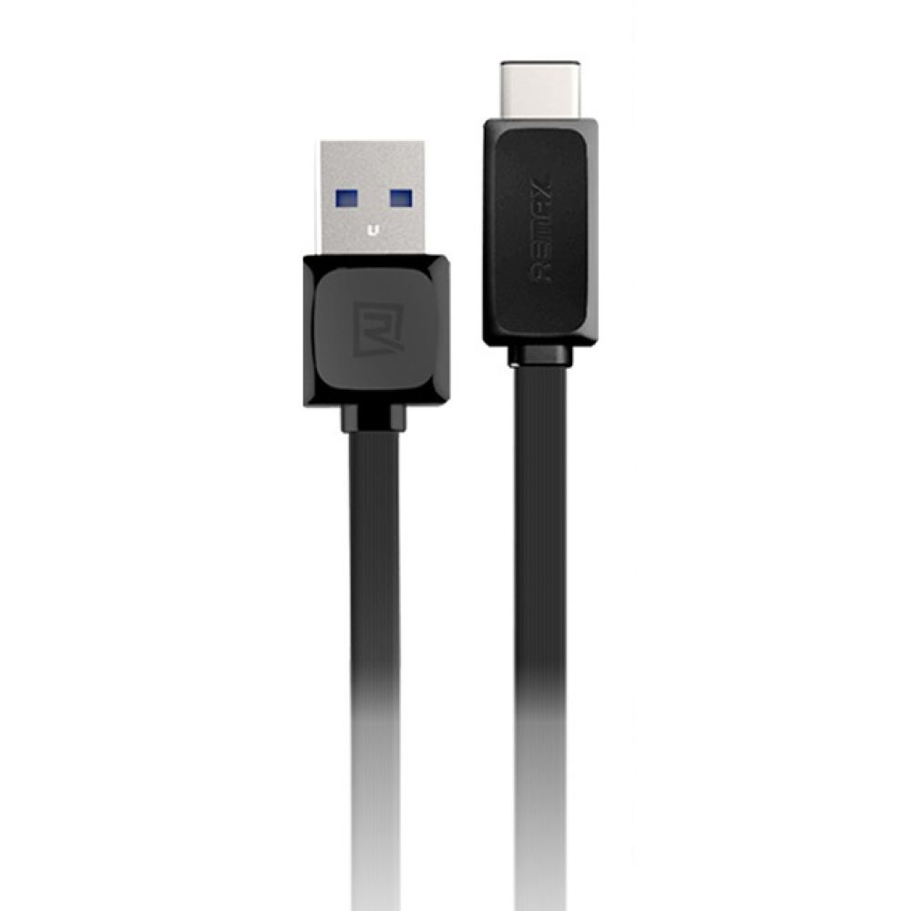 Remax RT-C1, 1m,Data cable USB 3.1 Type - C, Black, White - 14360