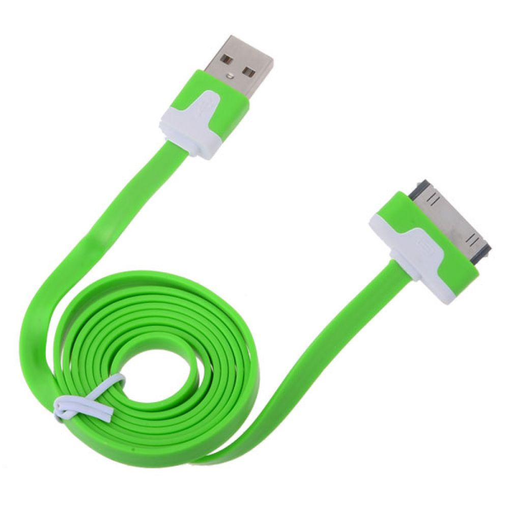 DeTech Data cable  USB Lightning for iPhone 4/4s, flat - 14047