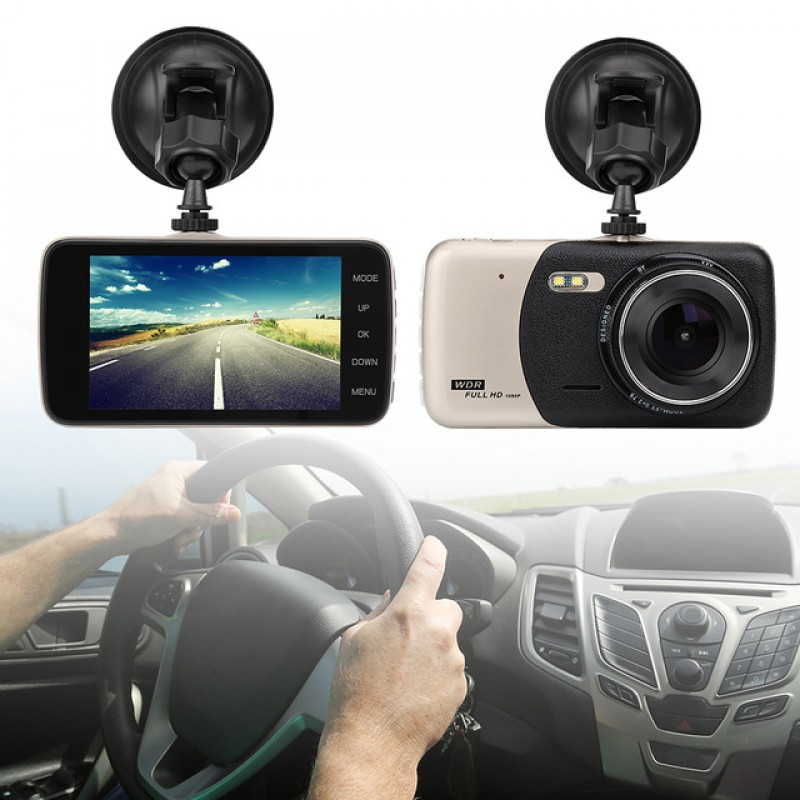 OEM Car DVR Vehicle 2 Camera Video Recorder Dash Cam Night Vision High Definition HD 4.0 LCD 1080P