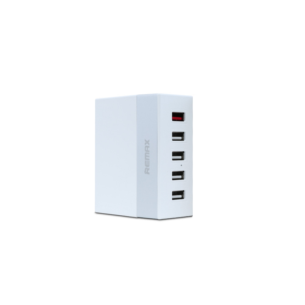 Remax RU-U1 Network charger, 5V 5.2A, 5xUSB, without cable, White - 14823