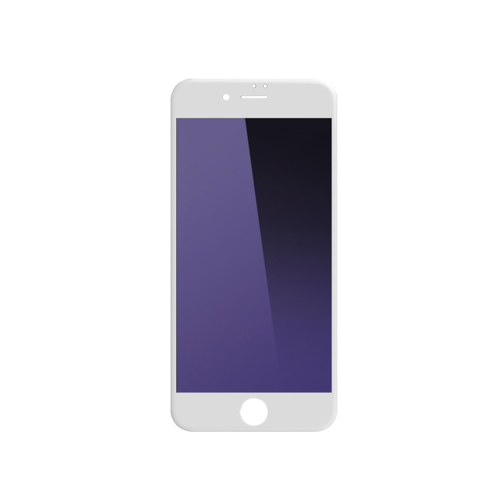 Remax Gener,Glass protector Full 3D, Anti-Blu Ray, For iPhone 6/6S, 0,3mm, White - 52217