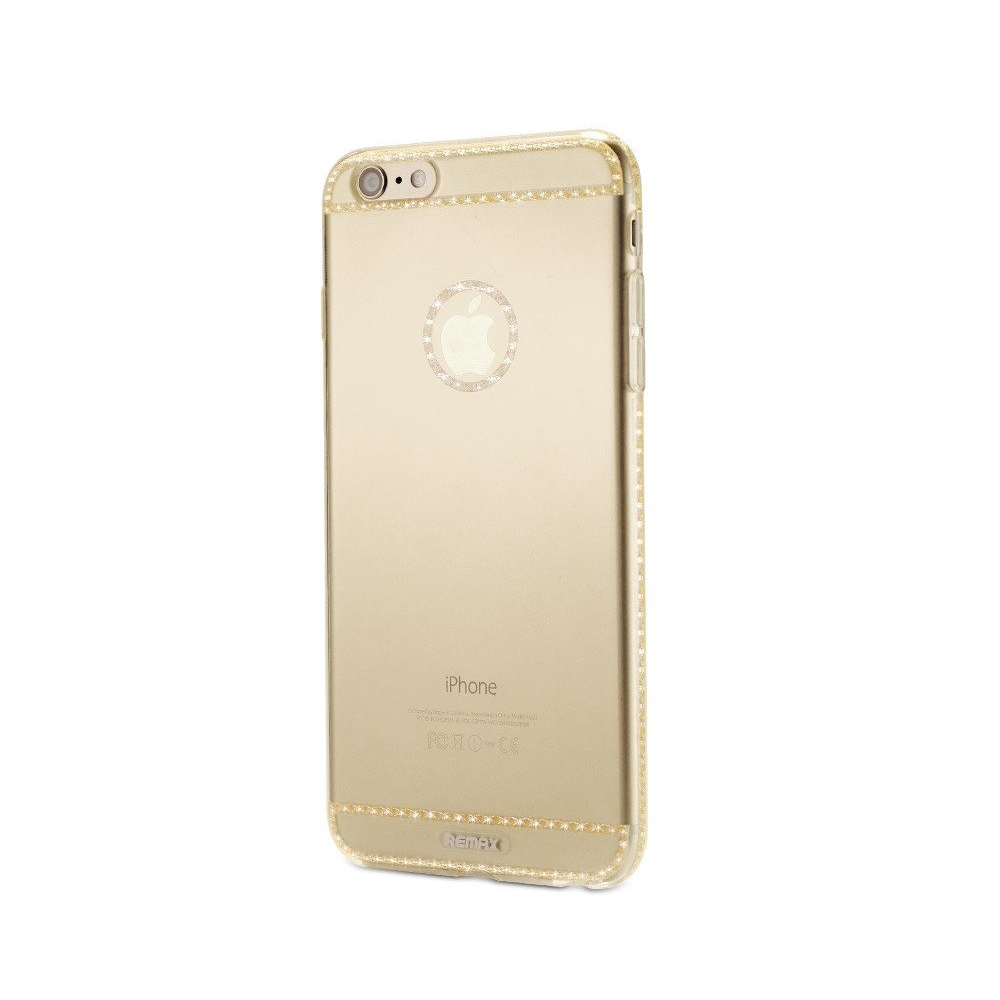 Remax Sunshine Protector for iPhone 7/8, Silicone, Slim, Gold - 51479