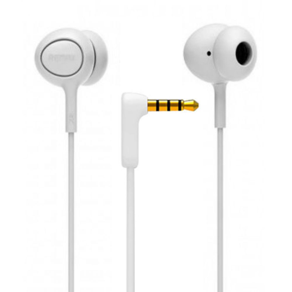 Remax RM-515 Headphones for phone with microphone, Audio, White - 20297