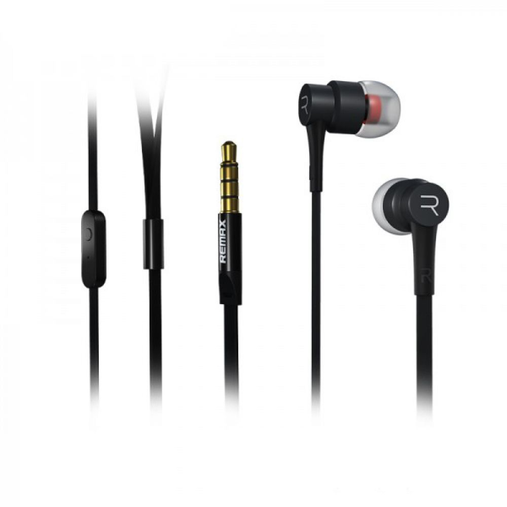 Remax RM-535 Mobile headphones, With microphone, Black, Silver - 20313