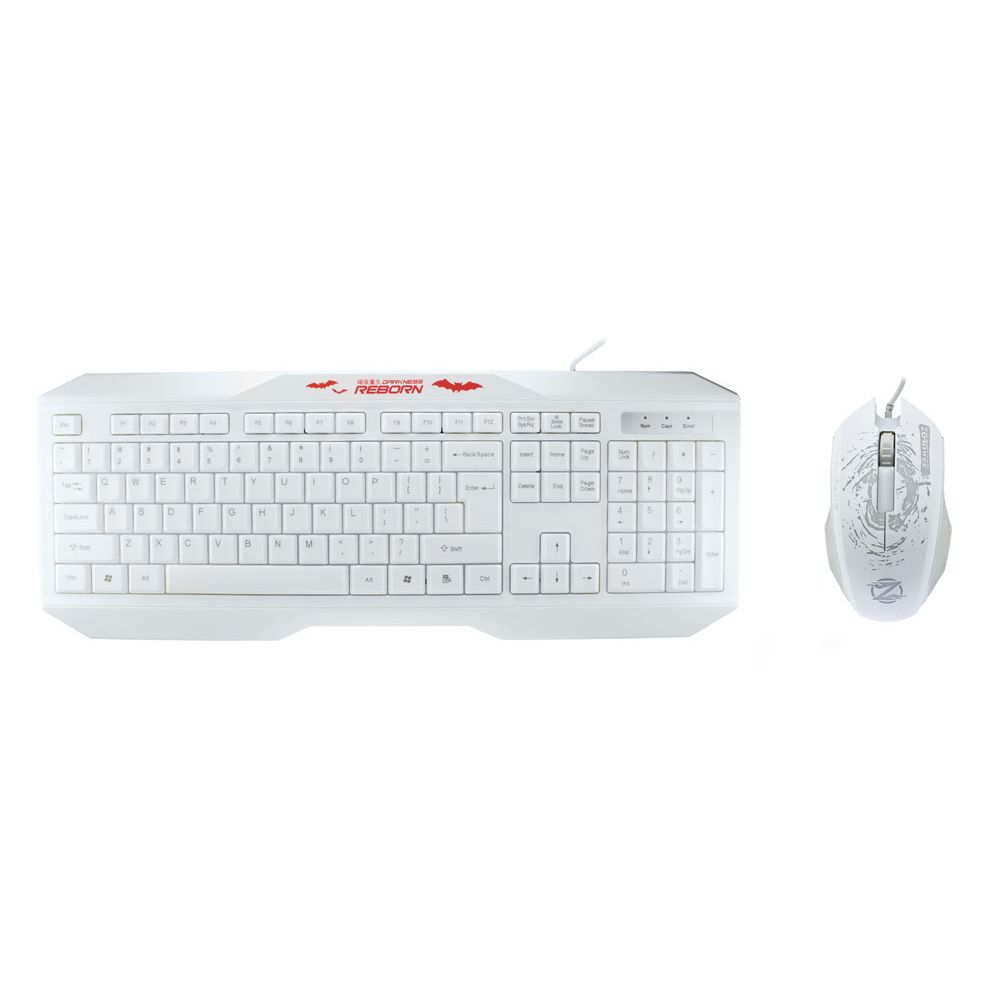 ZornWee y700 Gaming combo mouse and keyboard, hite - 6052