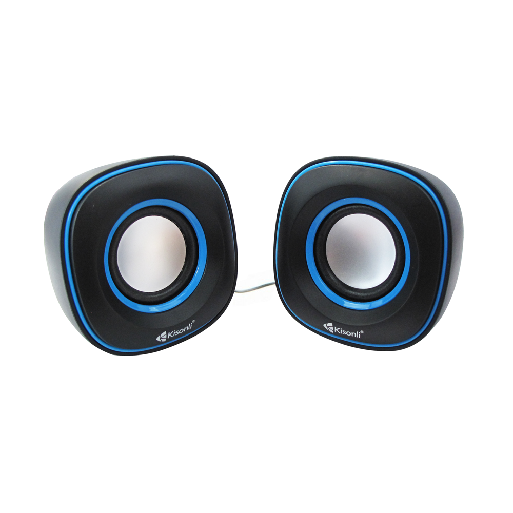Kisonli V350 Speakers 2x3W, USB, Black - 22061