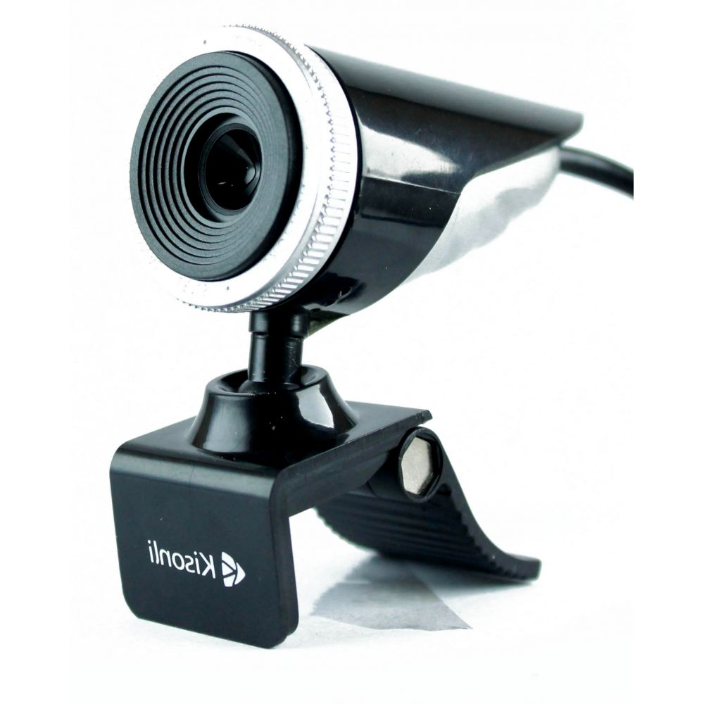 Kisonli K-001 Web camera With microphone USB, Black - 3023