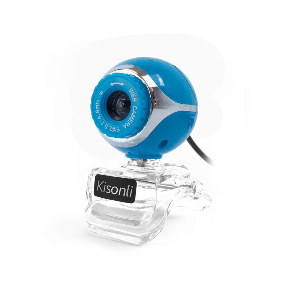 KIisonli U-225 Web camera with microphone, Blue - 3013