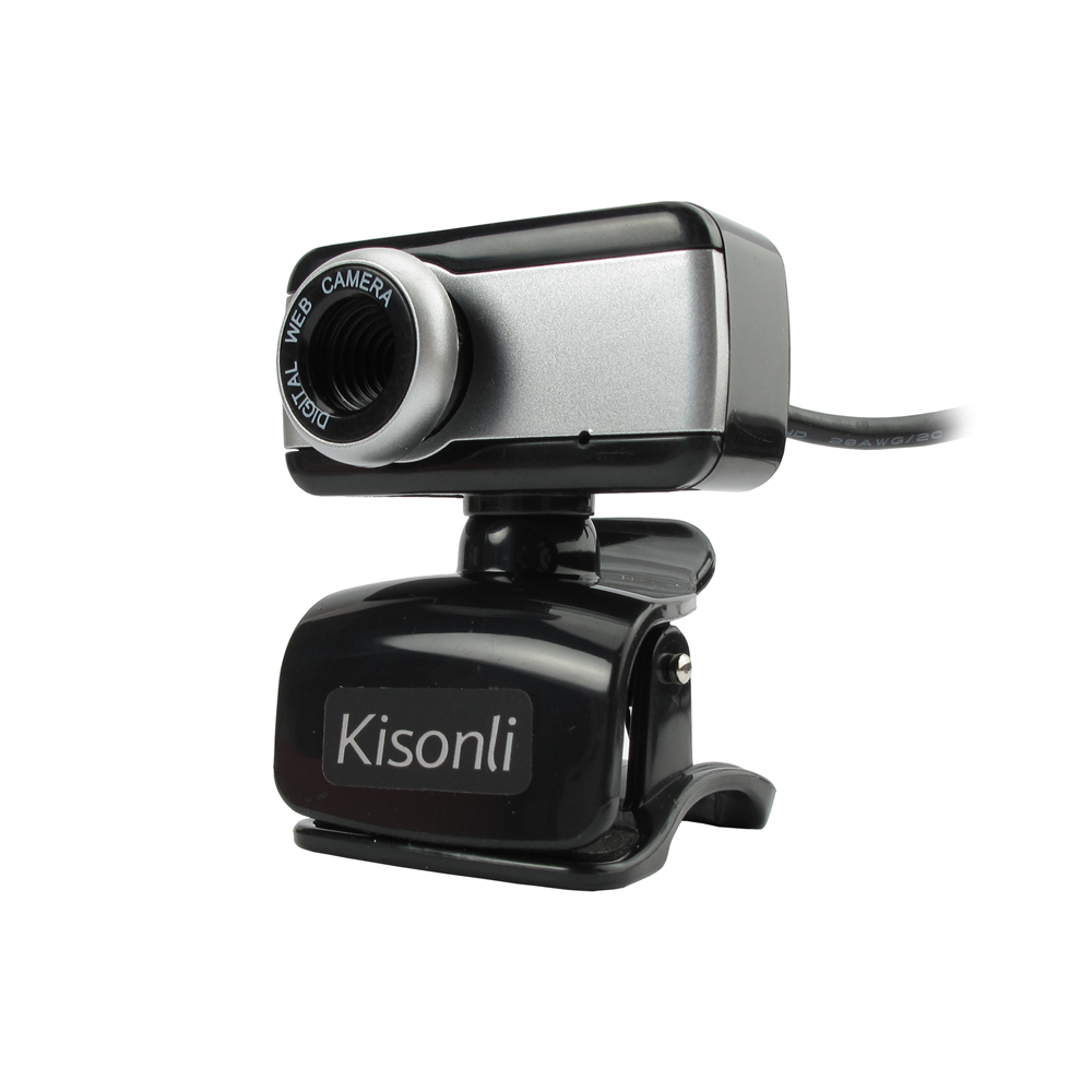 Kisonli JN - 112 Web camera with microphone and USB, black - 3028