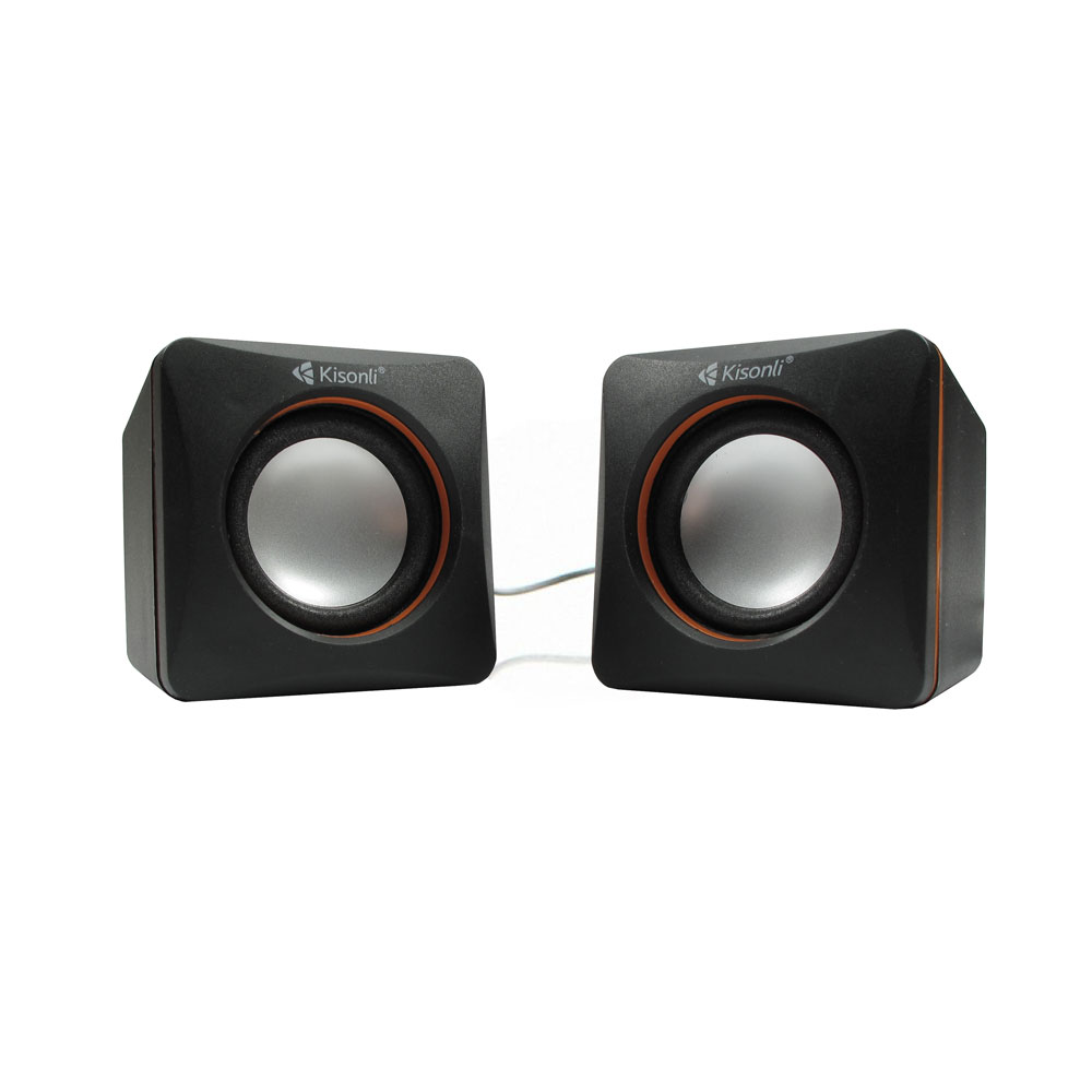 Kisonli V400 Speakers 3W*2, USB, Black - 22043
