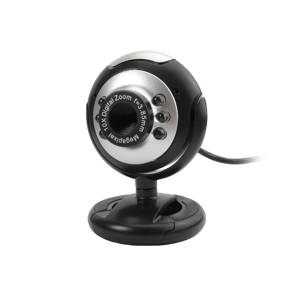 Kisonli U-635 Web camera with microphone and USB, black - 3034