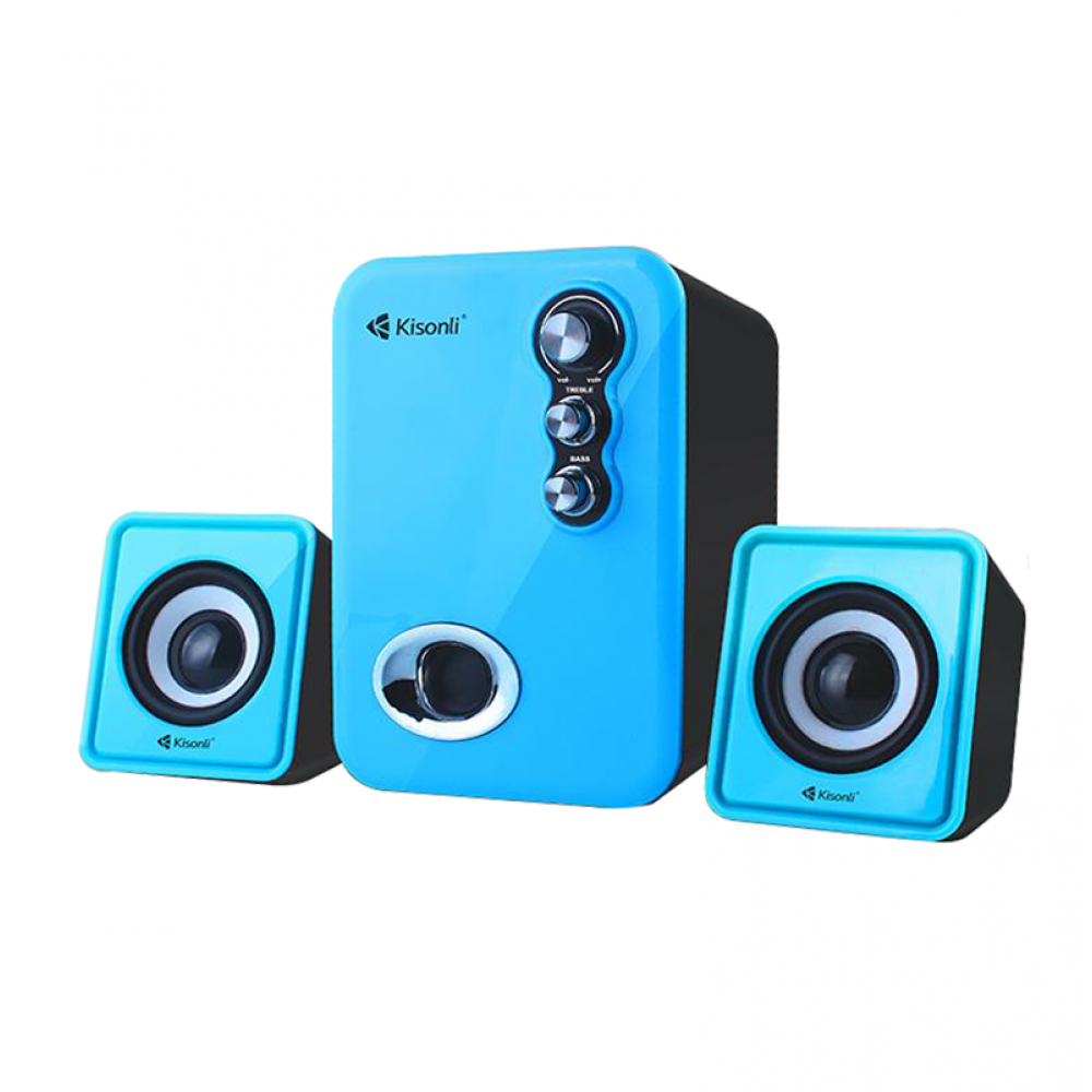 Kisonli U-2100 Speakers, 5W+3W*2, USB, Different colors - 22058