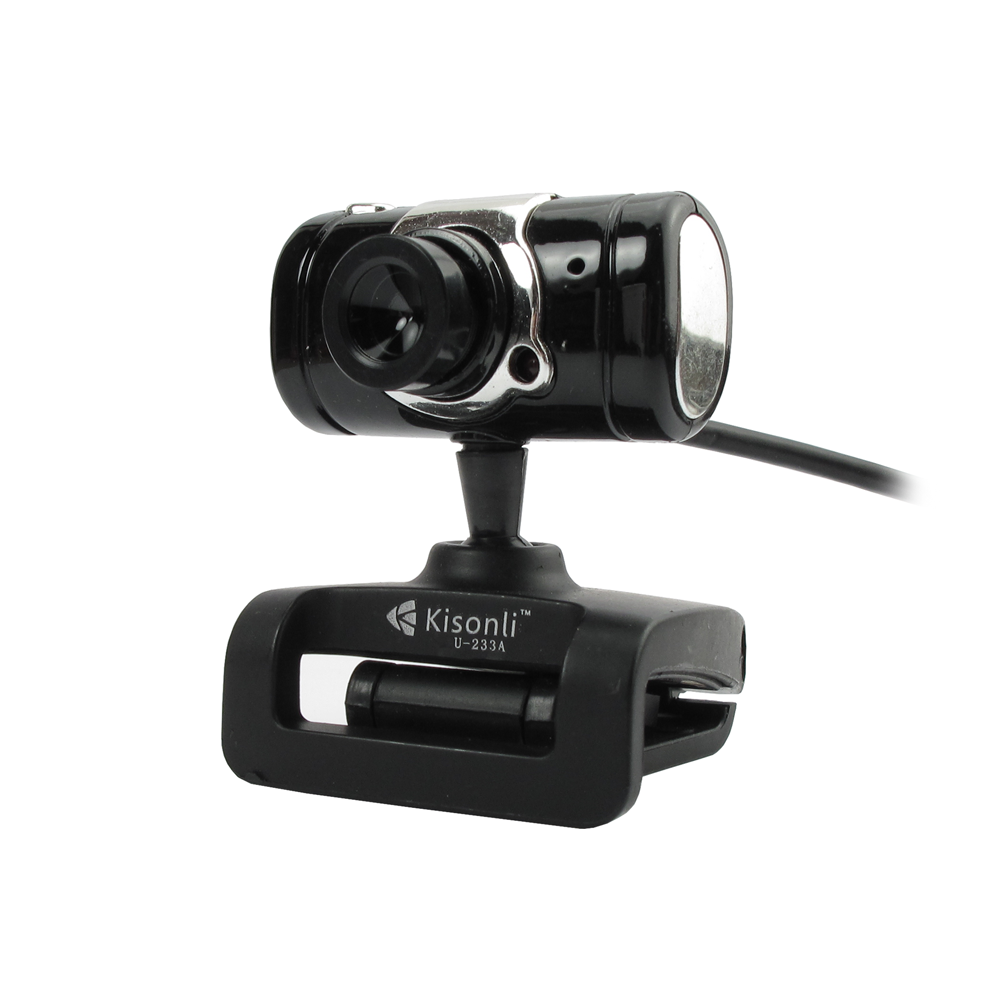 Kisonli K-003 Web camera With microphone and USB, Black - 3031