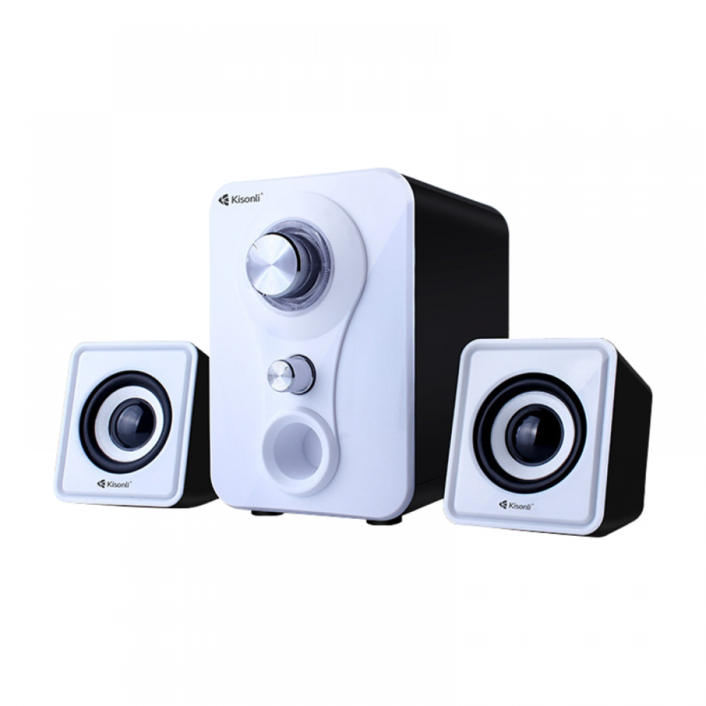 Kisonli U-2200 Speakers, 5W+3W*2, USB, Different colors - 22059