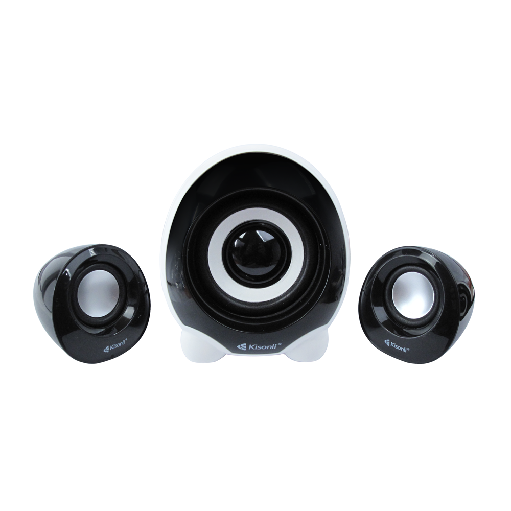Kisonli U-2300 Speakers, 5W+3W*2, USB, Black - 22057