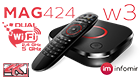 MAG424W3 Dual WiFI b/g/n/ac 2,Ghz/5Ghz UHD IPTV set-top box with 4K support