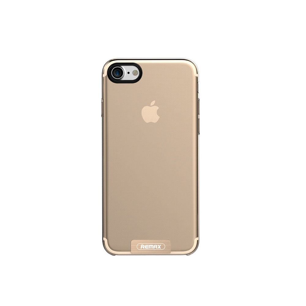 Remax Sain Protector for iPhone 7/7S, TPU, Gold - 51452
