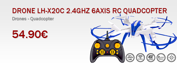 DRONE LH-X20C 2.4GHZ 6AXIS RC QUADCOPTER