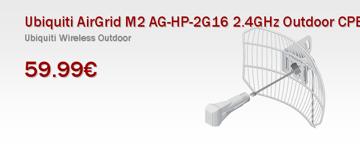 Ubiquiti AirGrid M2 AG-HP-2G16 2.4GHz Outdoor CPE 16dBi