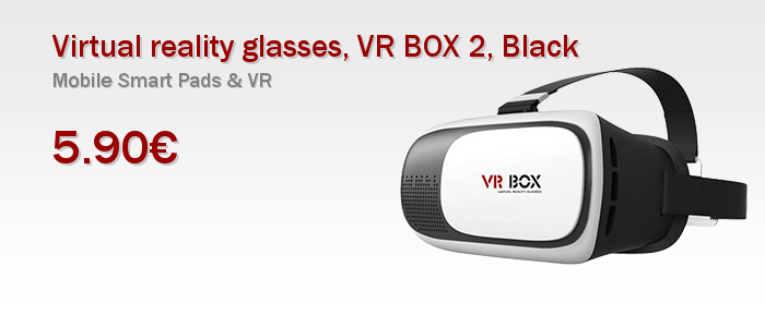 Virtual reality glasses, VR BOX 2, Black