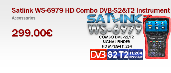 Satlink WS-6979 HD Combo DVB-S2&T2 Instrument with Spectrum Analyzer