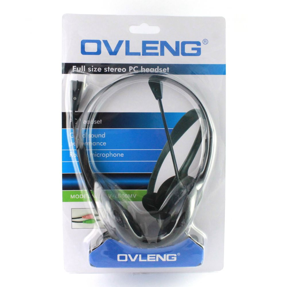 Ovleng OV-L900 Headsets for computer with microphone, black - 20239