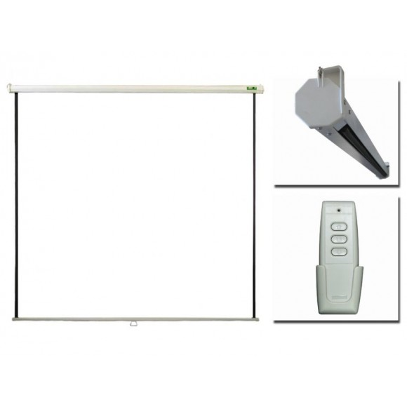 "PRIVILEG ERV200 ELECTRIC 100"", 2.0x1.5m, 4:3, Matte White, RF Remote, roll up down"