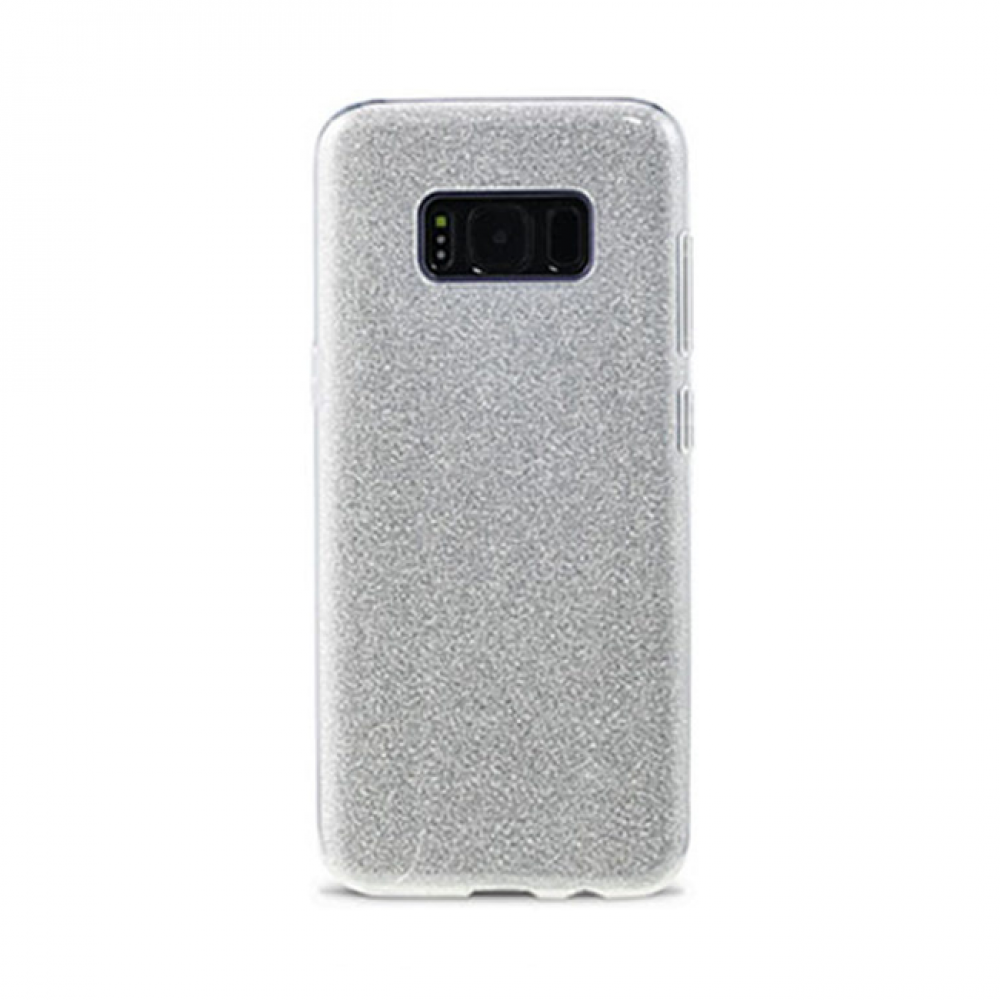 Remax Glitter Protector for Samsung Galaxy S8 Plus, TPU, Slim, Silver - 51523