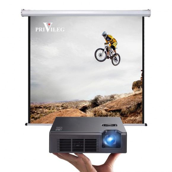"PRIVILEG DMV280 Manual Projection Screen CLASSIC 140"", 2.80x2.10m, 4:3, roll up down"