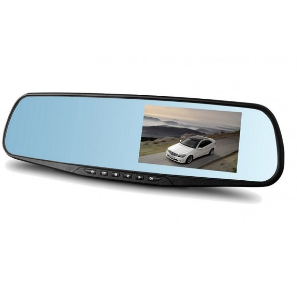 OEM Car Camera Rearview Mirror Auto DVR Dual Lens Dash Cam Recorder Full HD1080P 4.3Inch 818