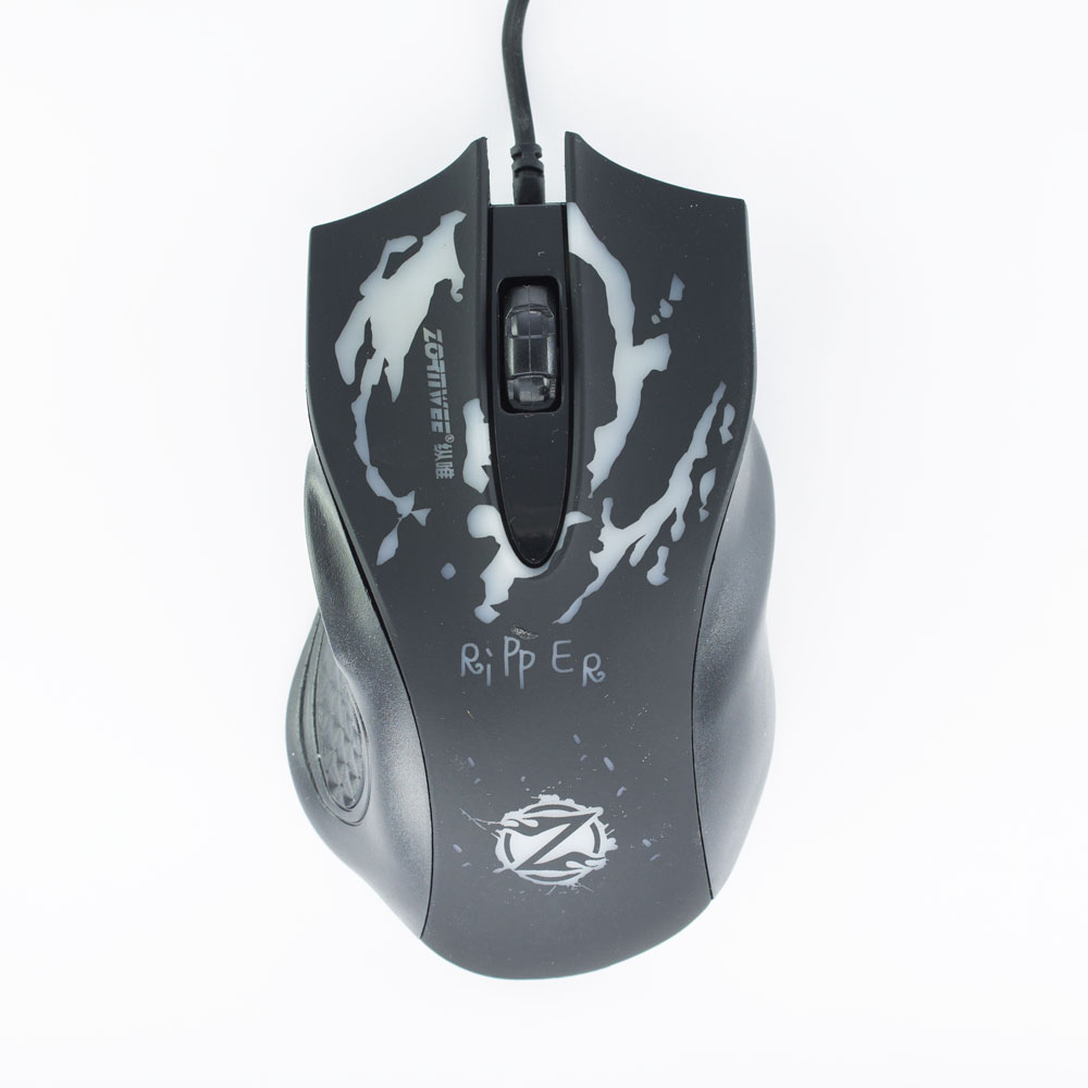 ZornWee Ripper Gaming mouse, Optical, Black - 963